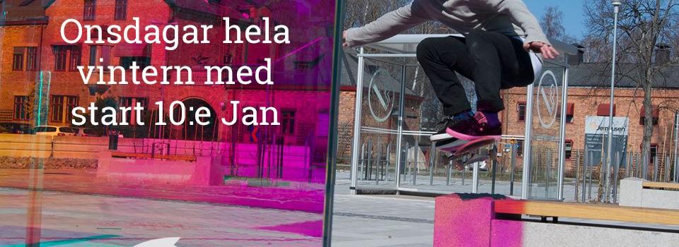 Skateskola onsdagar 16:00 – 18:00 på Brädcentralen
